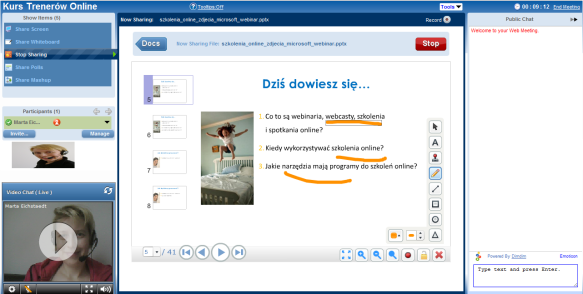 software do webinarów, program do webcastów, DimDim