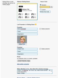 GoToWebinar, test programu do webcastów, własny branding