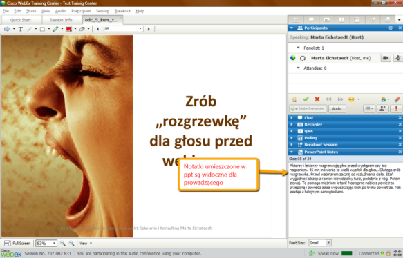 Webex Training Notatki z ppt