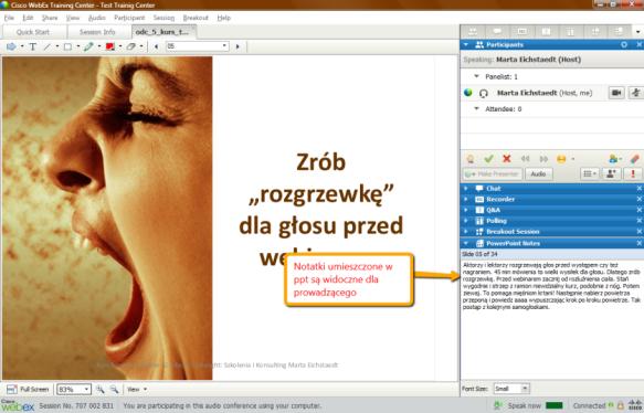 Webex Training Notatki z ppt