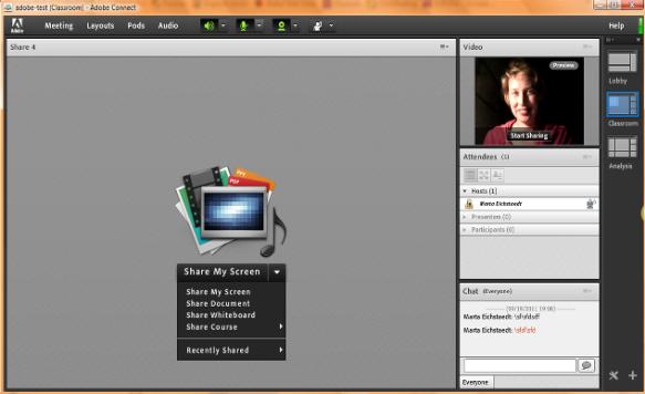Adobe Connect 8 wirtualny pokój
