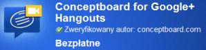 google chrome conceptboard i google hangouts